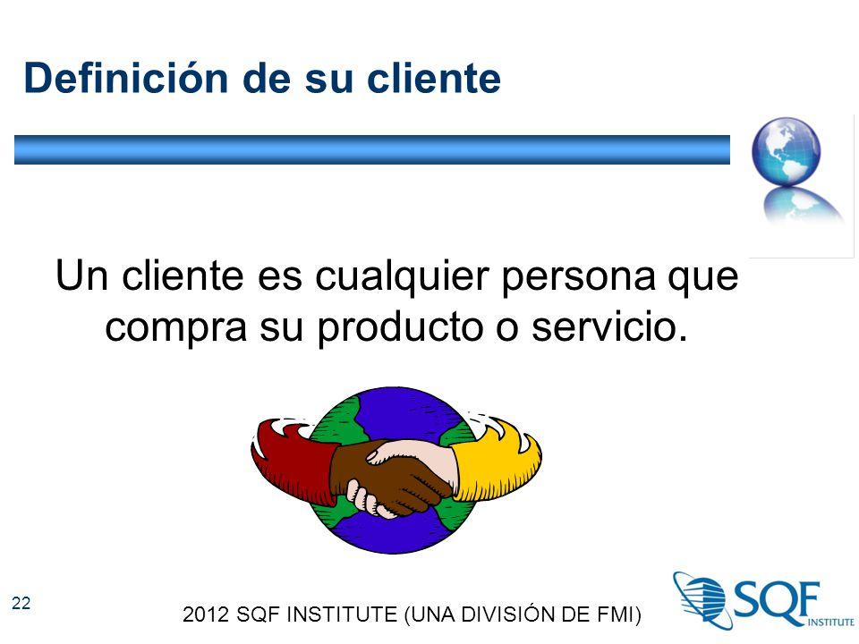 Definición de su cliente Un cliente es cualquier persona que compra su producto o servicio.