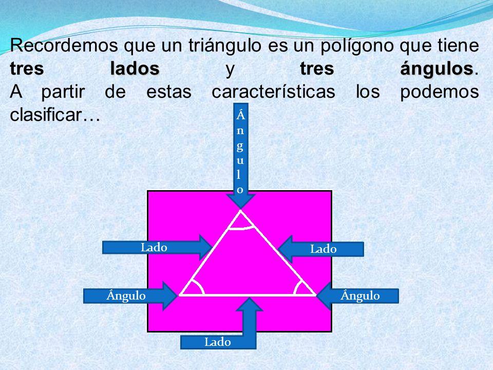 Según la medida de sus lados, hay 3 tipos de triángulos: Según la medida de sus lados, hay 3 tipos de triángulos: Equilátero
