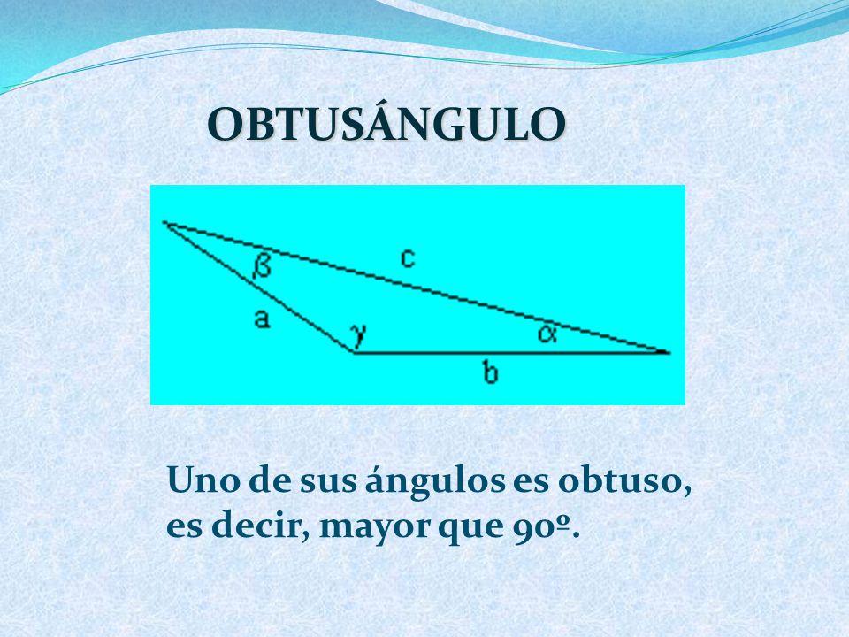 RECTÁNGULO Uno de sus ángulos es recto, es decir, mide 90º.