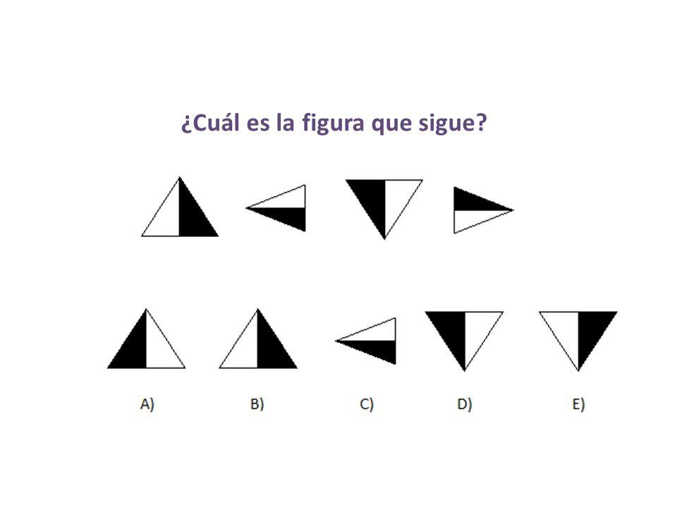 ¿Cuál es la figura que sigue?