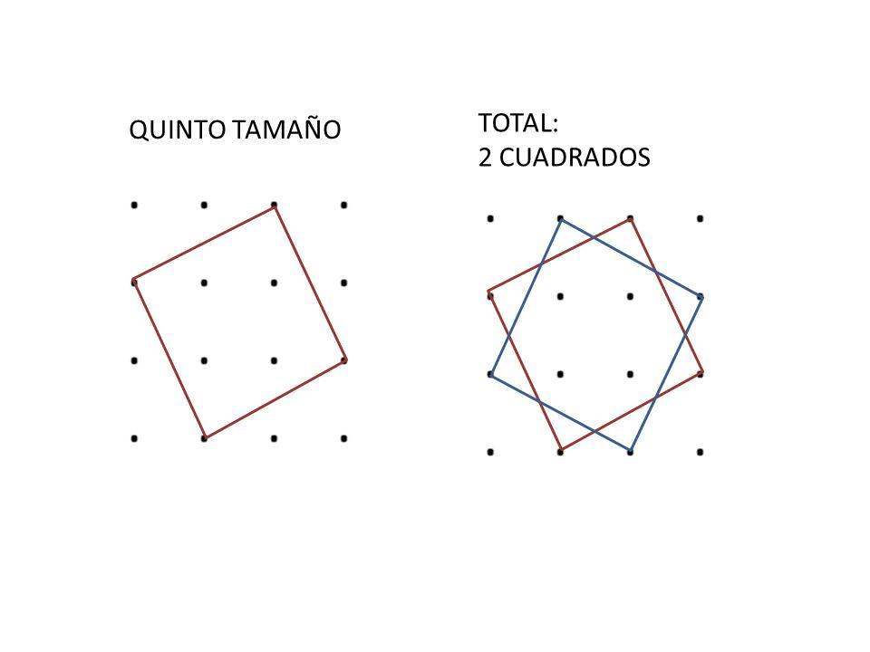 Cuántos cuadrados se pueden formar con los siguientes puntos: A)9B)14C)18D)20E)16