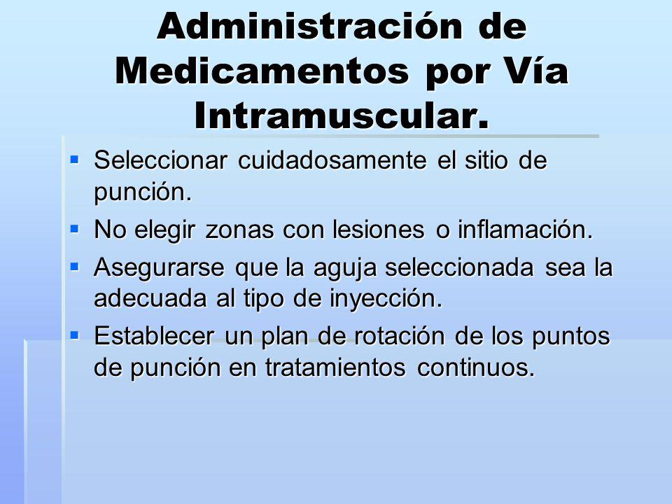 Administración de Medicamentos por Vía Intramuscular.