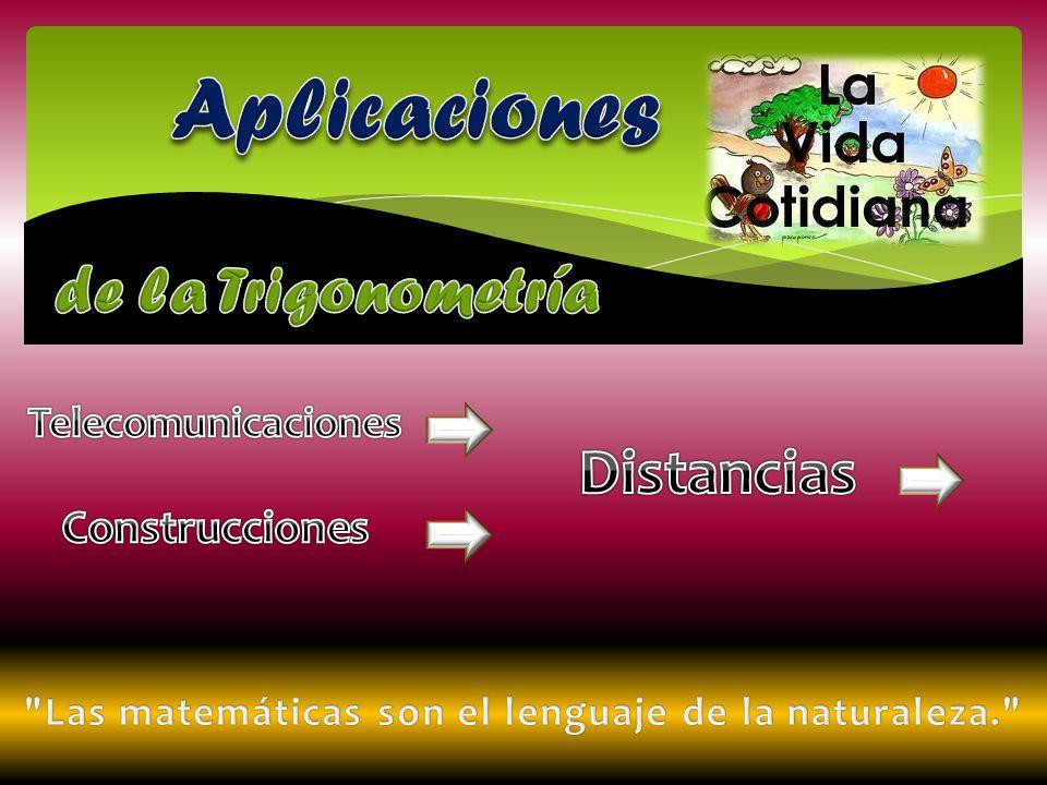 Telecomunicaciones La trigonometría la podemos aplicar en las telecomunicaciones.