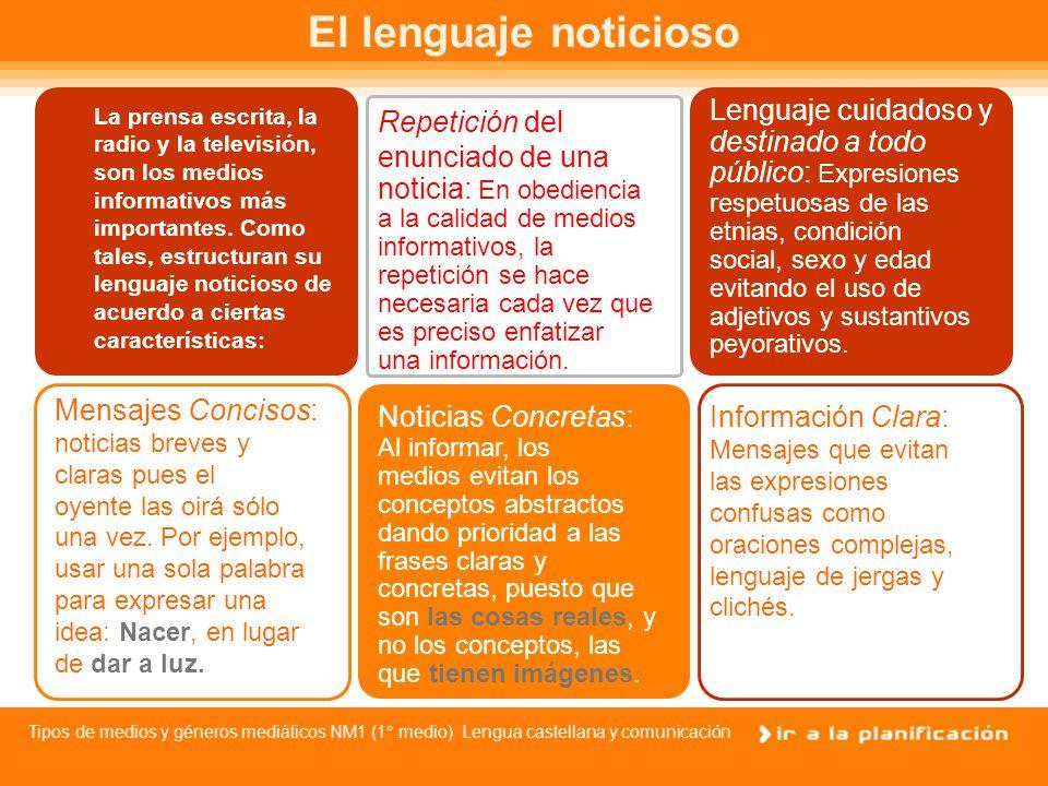 Tipos de medios y géneros mediáticos NM1 (1° medio) Lengua castellana y comunicación PRENSA ESCRITA: DIARIOS Y REVISTAS Los diarios o periódicos son principalmente vehículos de noticias y opiniones, las que se disponen ordenadamente en cada una de las secciones que los constituyen.