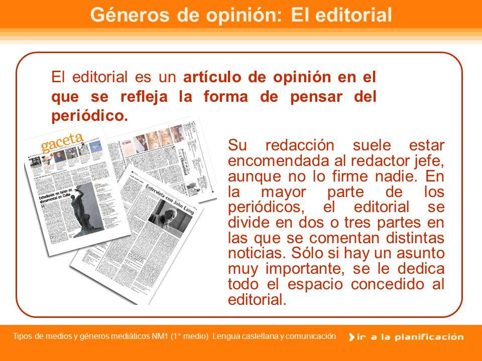Tipos de medios y géneros mediáticos NM1 (1° medio) Lengua castellana y comunicación Géneros informativos: La crónica La crónica es la narración sobre hechos de actualidad, como por ejemplo hechos culturales, deportivos, políticos, etc...