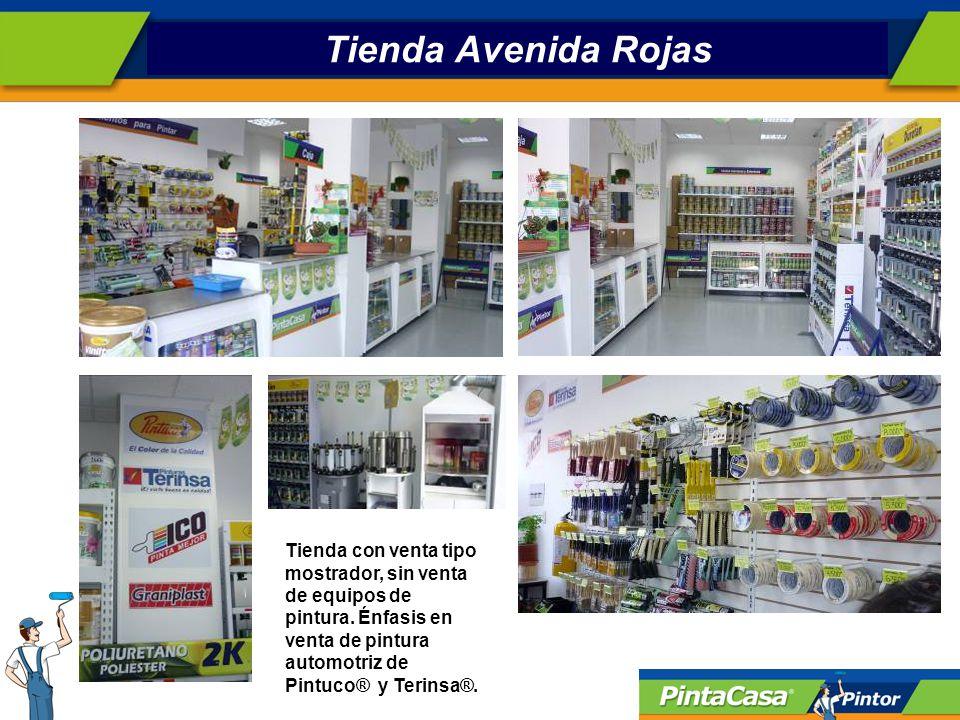 Tienda Avenida Rojas Tienda con venta tipo mostrador, sin venta de equipos de pintura.