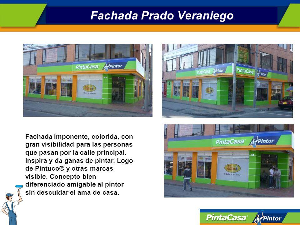 Fachada Prado Veraniego Fachada imponente, colorida, con gran visibilidad para las personas que pasan por la calle principal.