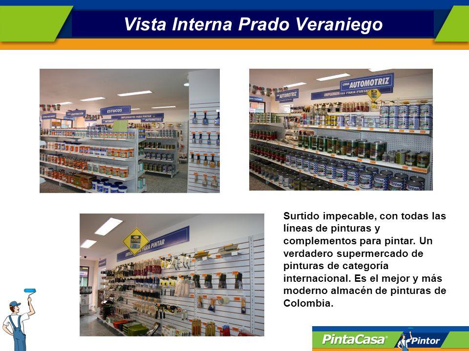 Vista Interna Prado Veraniego Surtido impecable, con todas las líneas de pinturas y complementos para pintar.