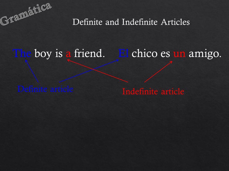 El chico es un amigo.The boy is a friend.
