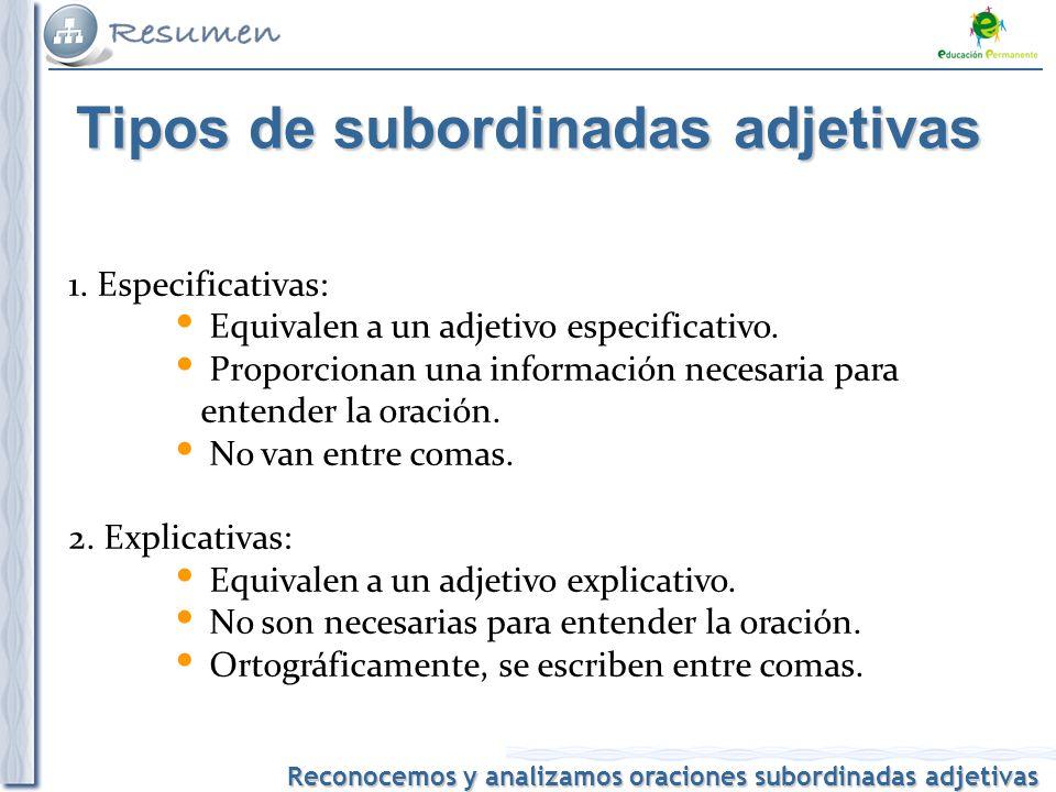ORACIÓN COMPUESTA(III): SUBORDINADAS ADJETIVAS | MI QUERIDA VIBORINA