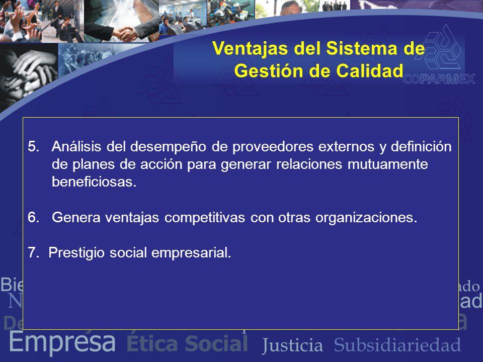 5.Análisis del desempeño de proveedores externos y definición de planes de acción para generar relaciones mutuamente beneficiosas.