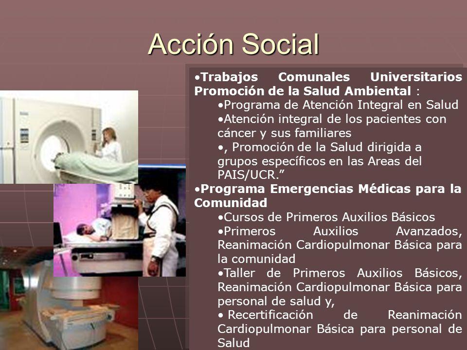 Actividad académica Escuela Tecnologías en Salud Acción Social ...