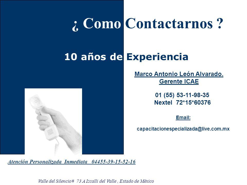 ¿ Como Contactarnos .