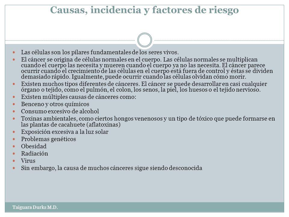 Causas, incidencia y factores de riesgo Las células son los pilares fundamentales de los seres vivos.