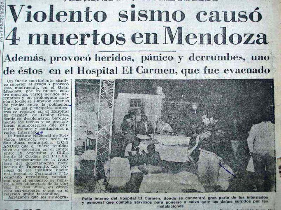 Resultado de imagen para terremoto mendoza 1985