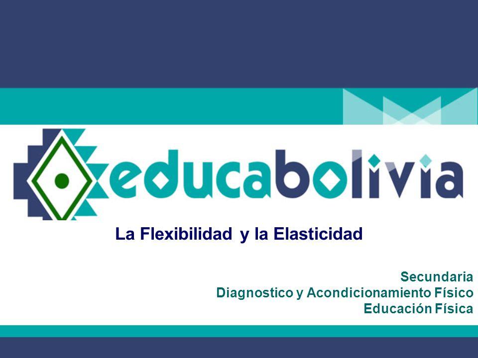 La Flexibilidad y la Elasticidad Secundaria Diagnostico y Acondicionamiento Físico Educación Física
