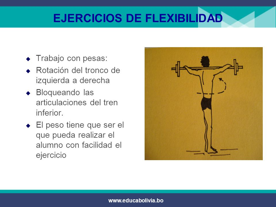 www.educabolivia.bo EJERCICIOS DE FLEXIBILIDAD  Trabajo por parejas:  Un compañero ayuda al otro a realizar el arco dorsal.