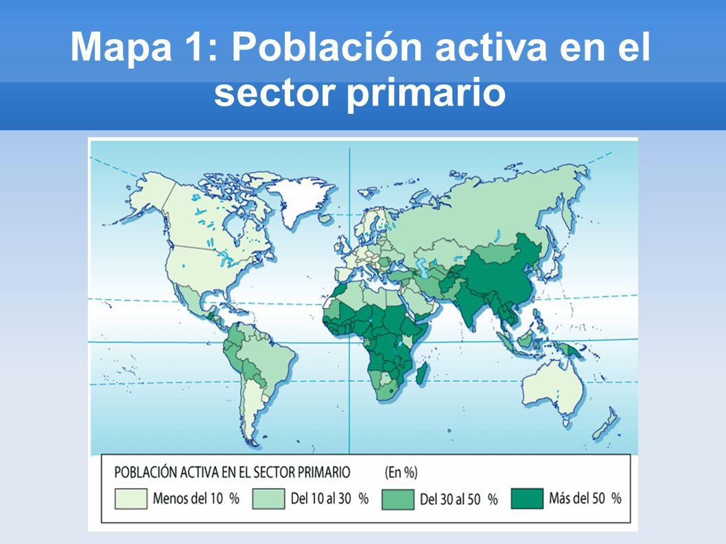 Mapa 1: Población activa en el sector primario