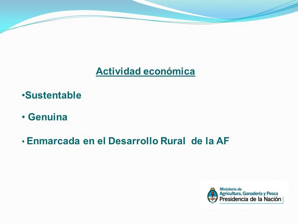 Actividad económica Sustentable Genuina Enmarcada en el Desarrollo Rural de la AF