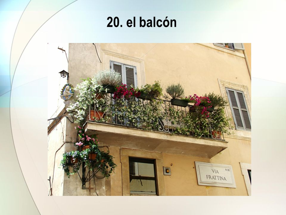 20. el balcón