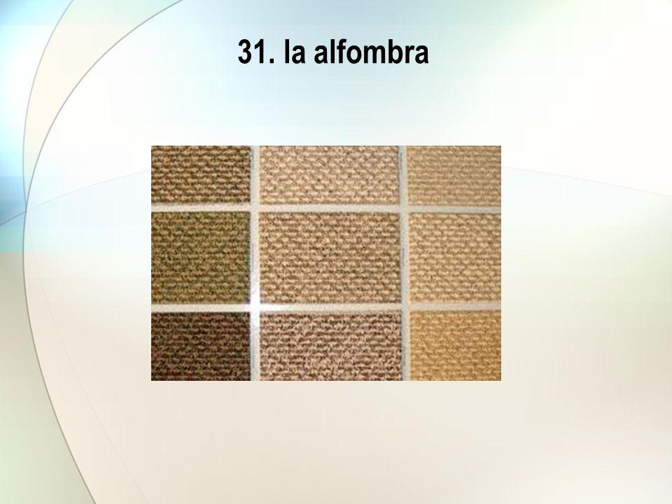 31. la alfombra