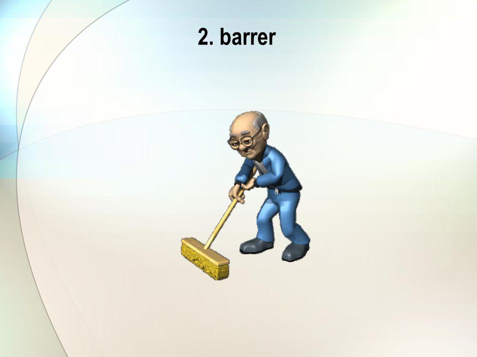 2. barrer
