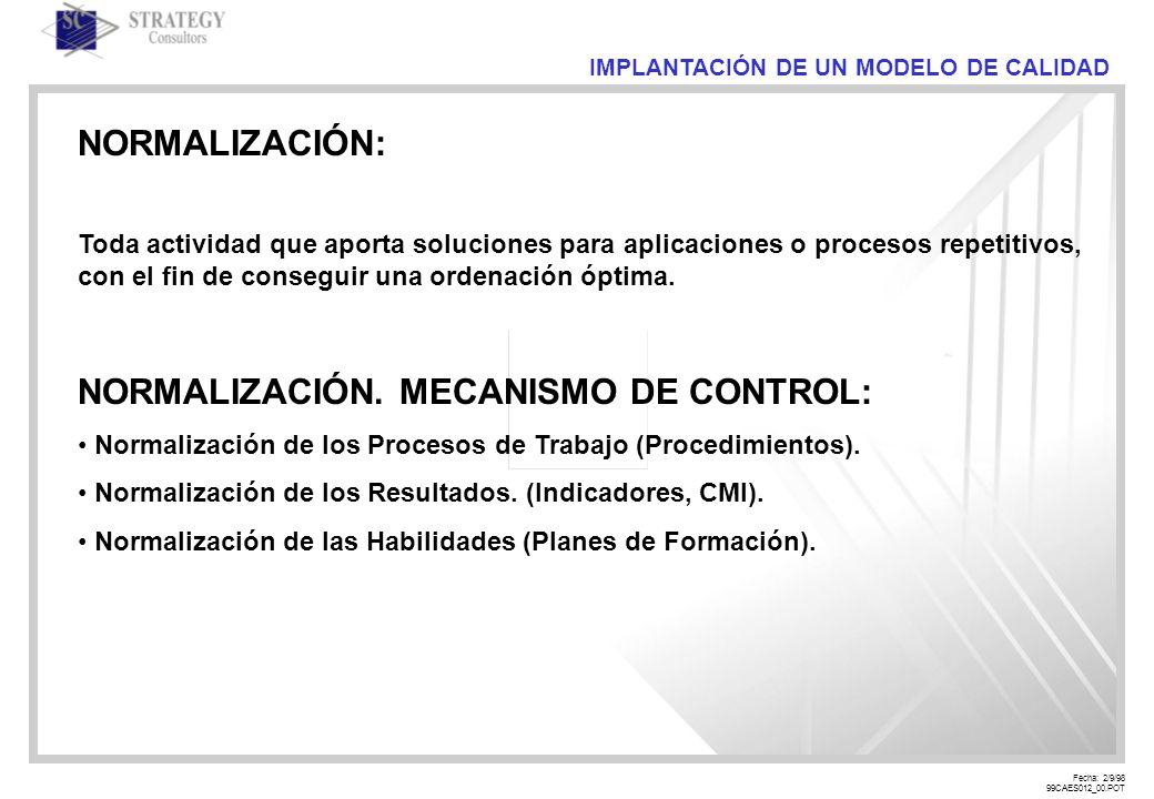 Fecha: 2/9/98 99CAES012_00.POT IMPLANTACIÓN DE UN MODELO DE CALIDAD ATRIBUTOS DE CALIDAD: Debe estar Documentado (ISO 9000 : 1994).