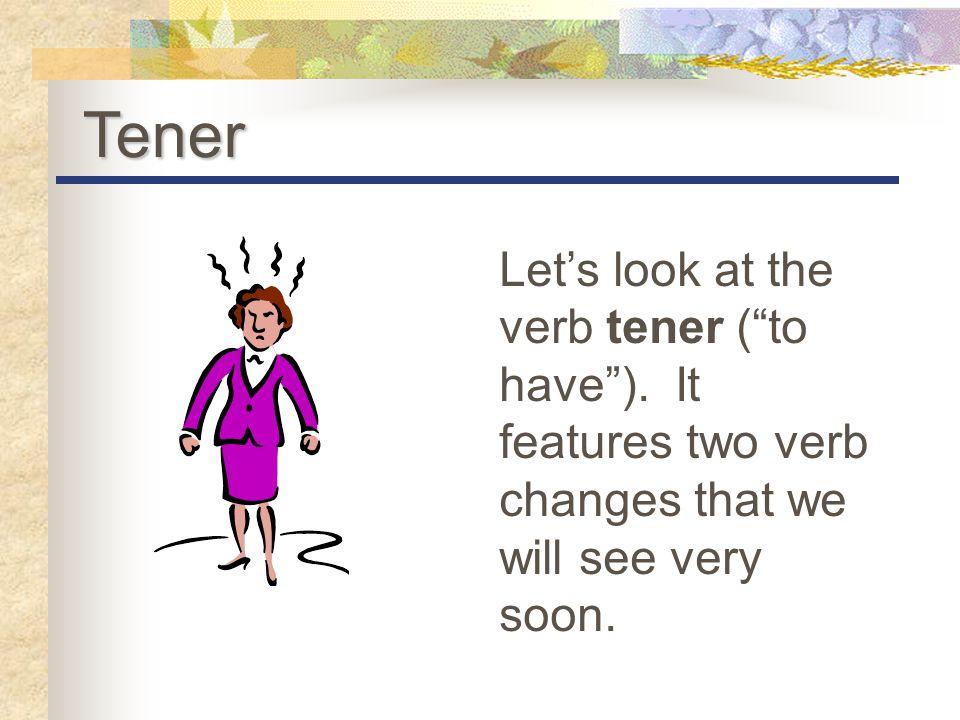 The Verb Tener Spanish
