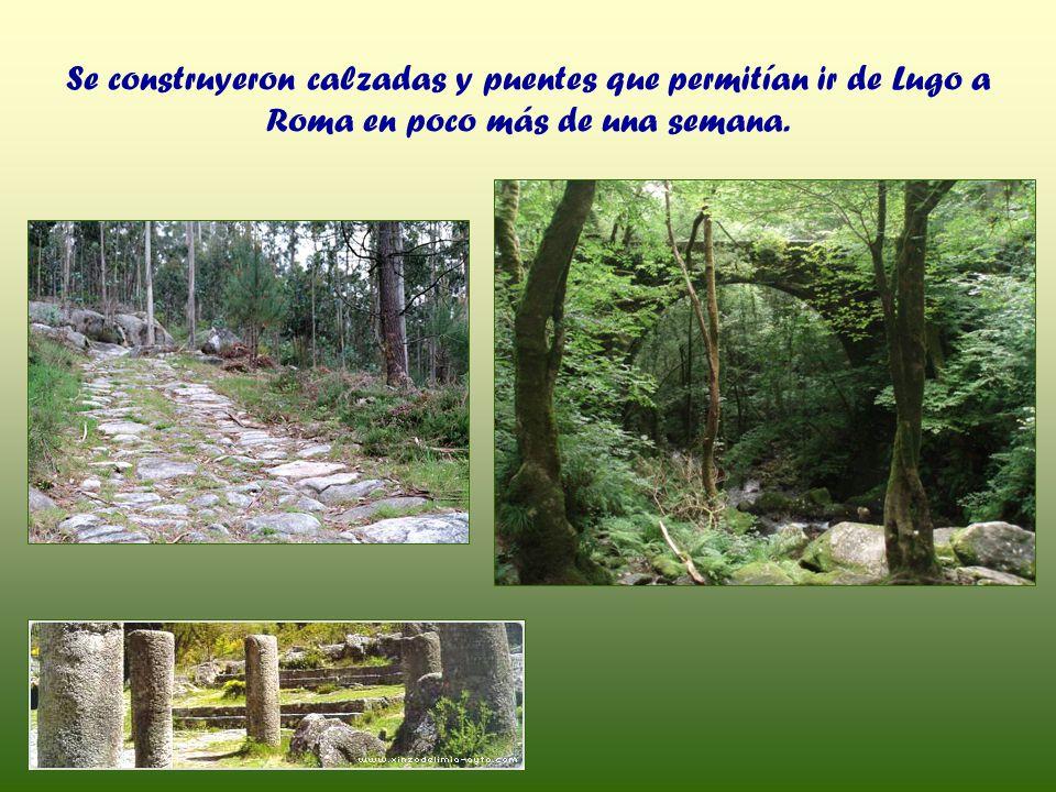 Se construyeron calzadas y puentes que permitían ir de Lugo a Roma en poco más de una semana.