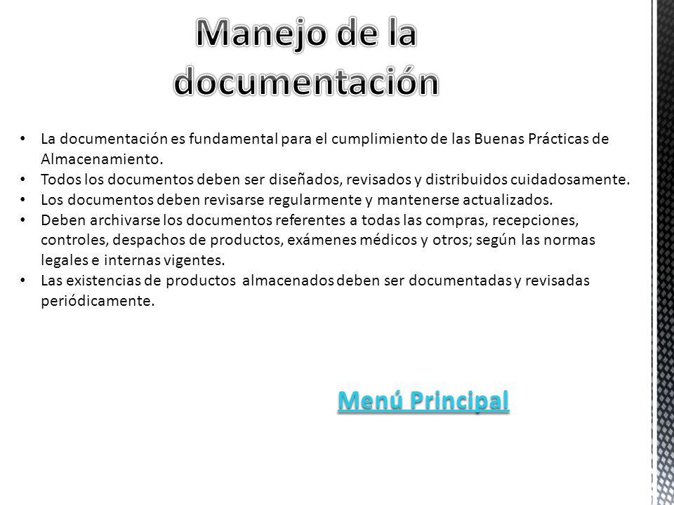 La documentación es fundamental para el cumplimiento de las Buenas Prácticas de Almacenamiento.