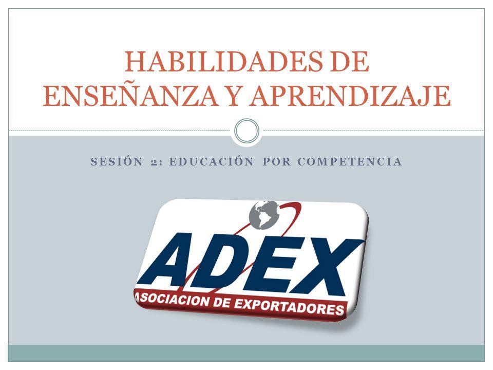 SESIÓN 2: EDUCACIÓN POR COMPETENCIA HABILIDADES DE ENSEÑANZA Y APRENDIZAJE
