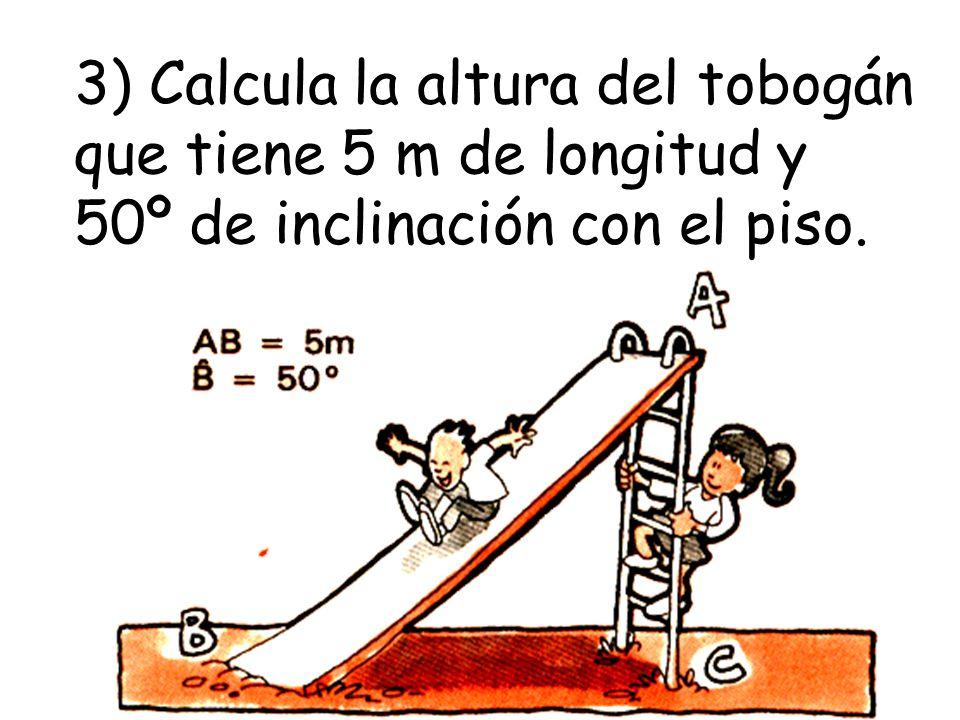 11) Calcula la altura de la torre, midiendo los ángulos de elevación desde los puntos A y B.