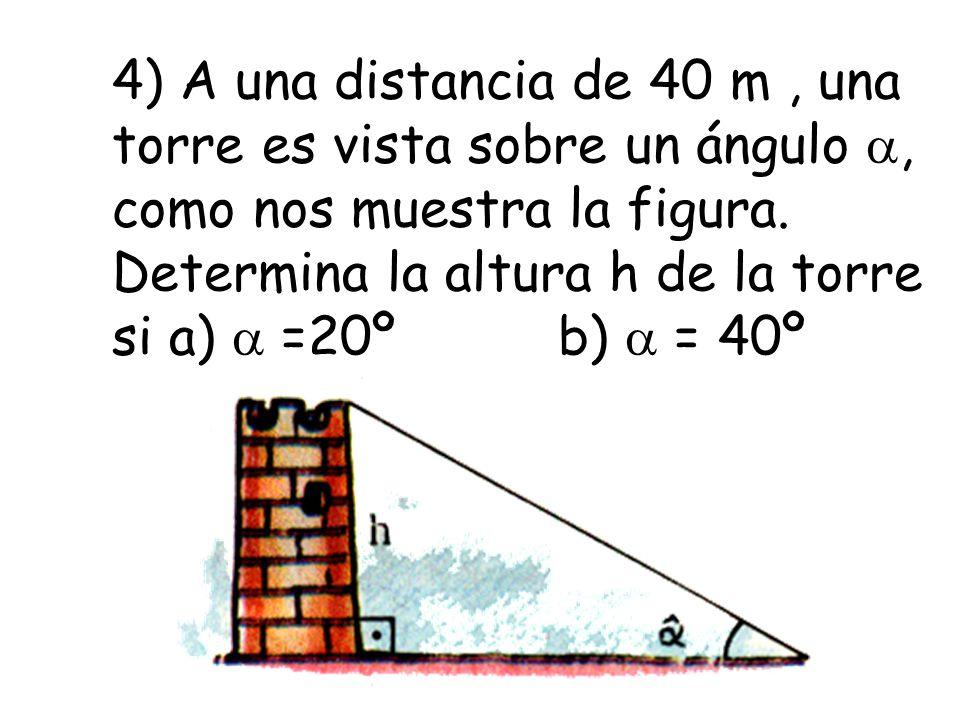 12) Observa la figura y determina la altura del faro 52º 71º 36m