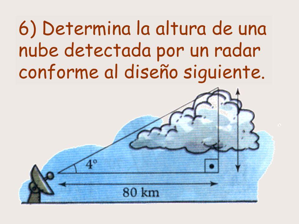 14) Un navío ve un peñasco con un ángulo de 30º.