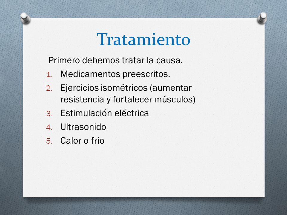 Tratamiento Primero debemos tratar la causa.1. Medicamentos preescritos.