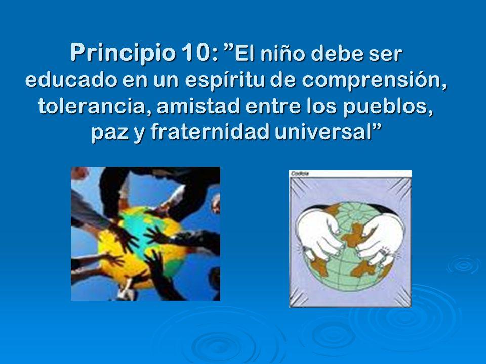 10 principio derecho nino: