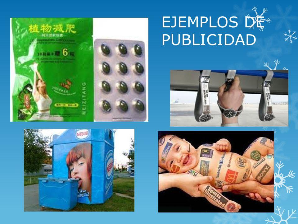 EJEMPLOS DE PUBLICIDAD