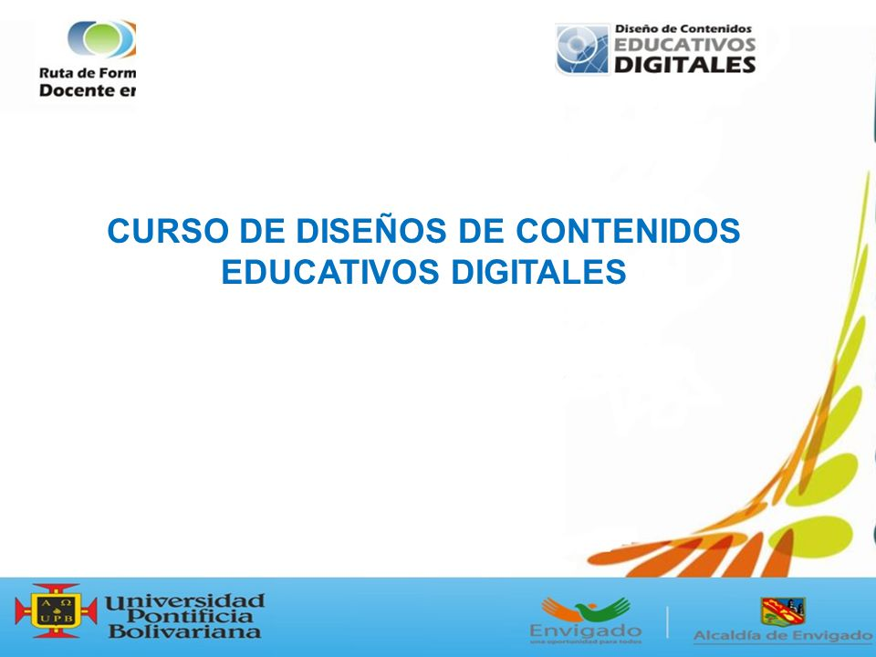 CURSO DE DISEÑOS DE CONTENIDOS EDUCATIVOS DIGITALES