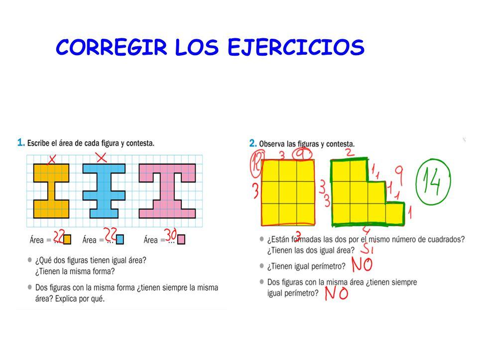 CORREGIR LOS EJERCICIOS
