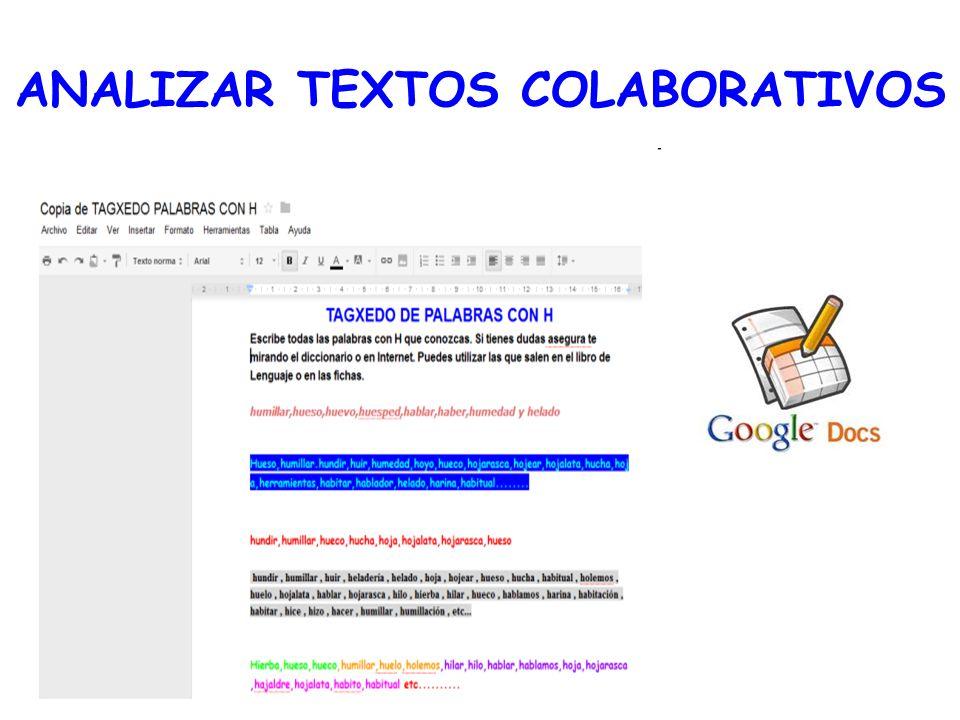 ANALIZAR TEXTOS COLABORATIVOS