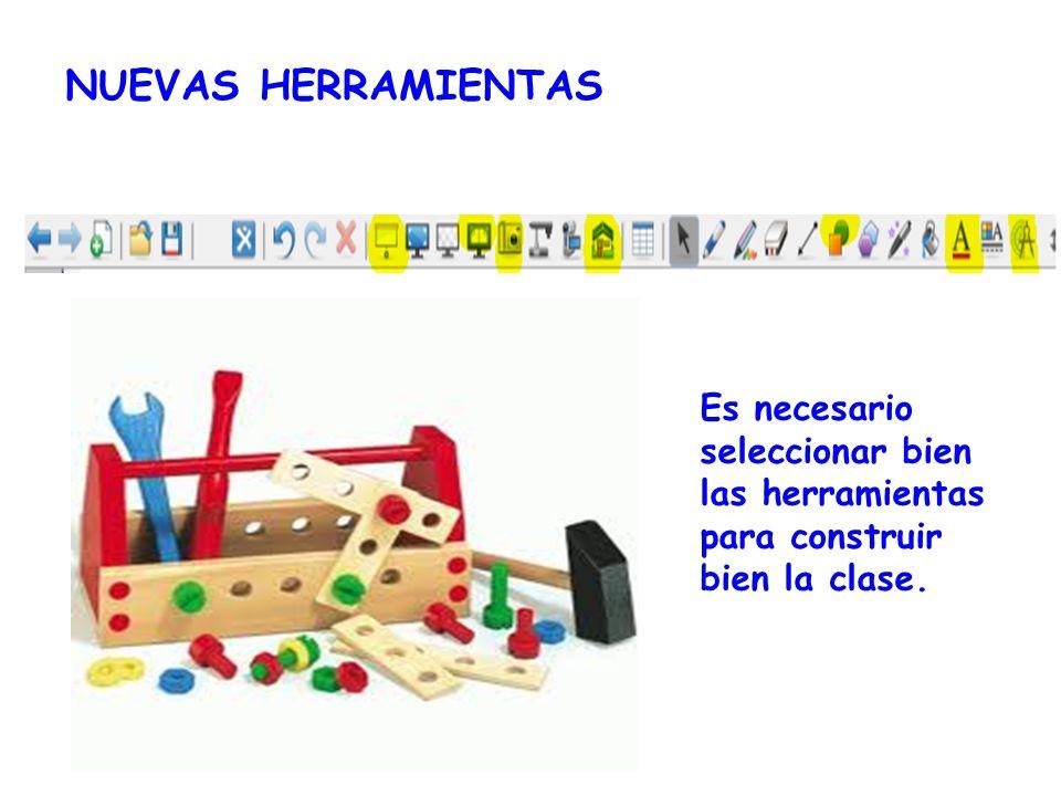 NUEVAS HERRAMIENTAS Es necesario seleccionar bien las herramientas para construir bien la clase.