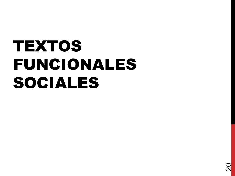 TEXTOS FUNCIONALES SOCIALES 20