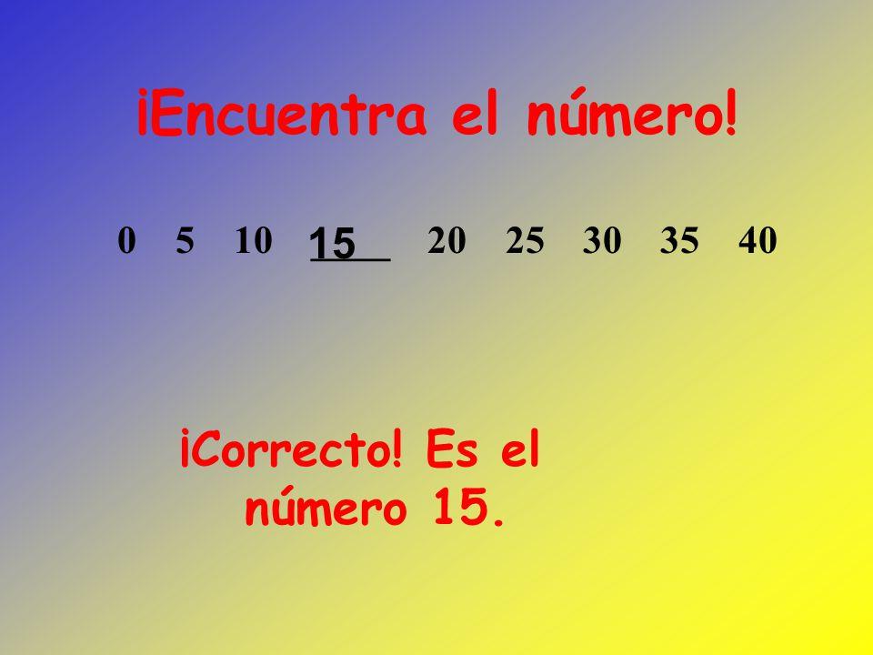 ¡Encuentra el número! 1 3 5 7 9 13 15 17 Es el número 11. 11