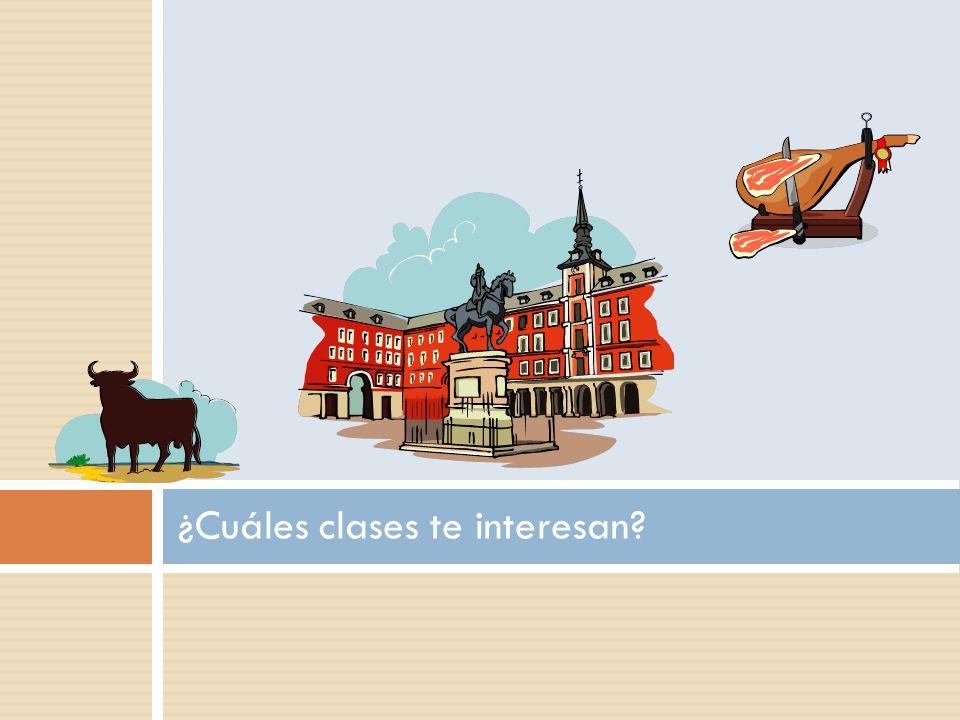 ¿Cuáles clases te interesan