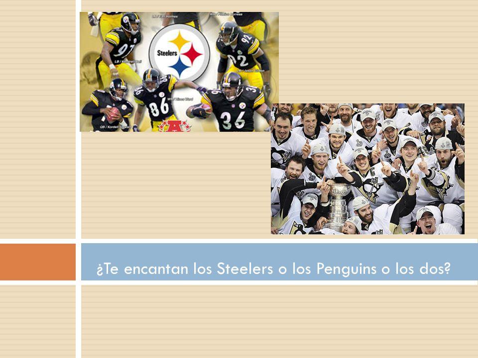 ¿Te encantan los Steelers o los Penguins o los dos
