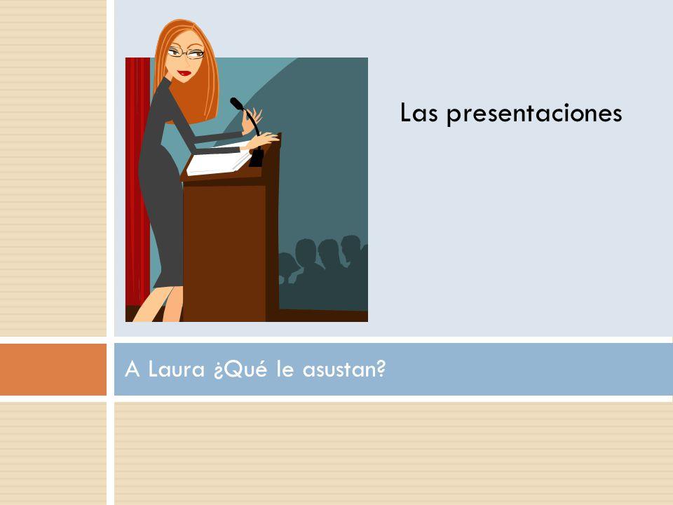 A Laura ¿Qué le asustan Las presentaciones