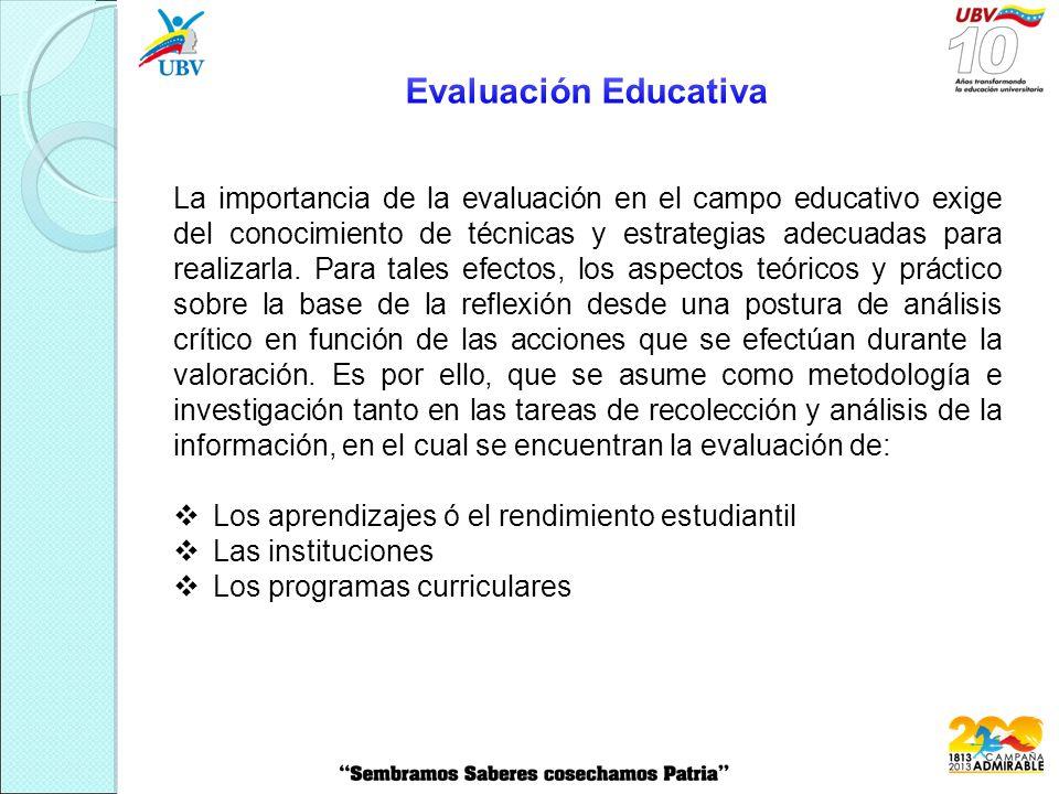 La importancia de la evaluación en el campo educativo exige del conocimiento de técnicas y estrategias adecuadas para realizarla.