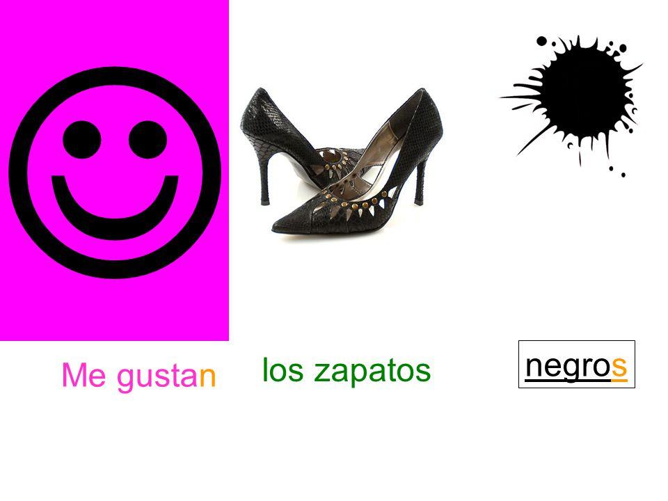 Me gustan los zapatos negros