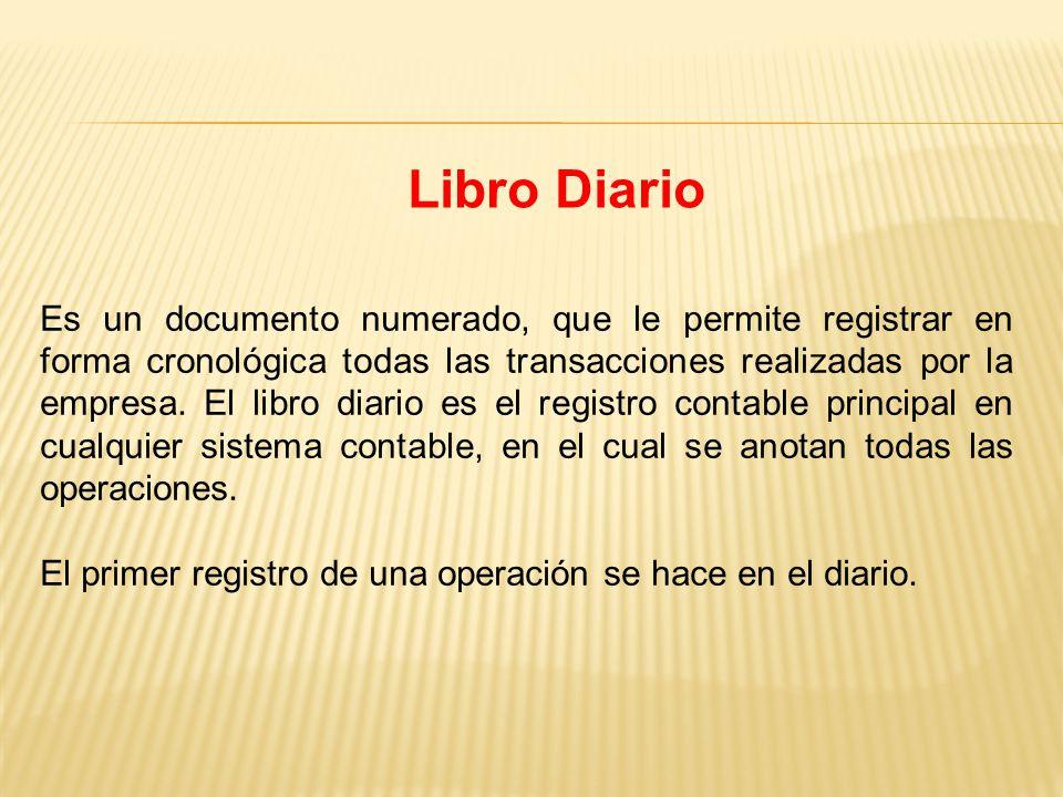 Es un documento numerado, que le permite registrar en forma cronológica todas las transacciones realizadas por la empresa.