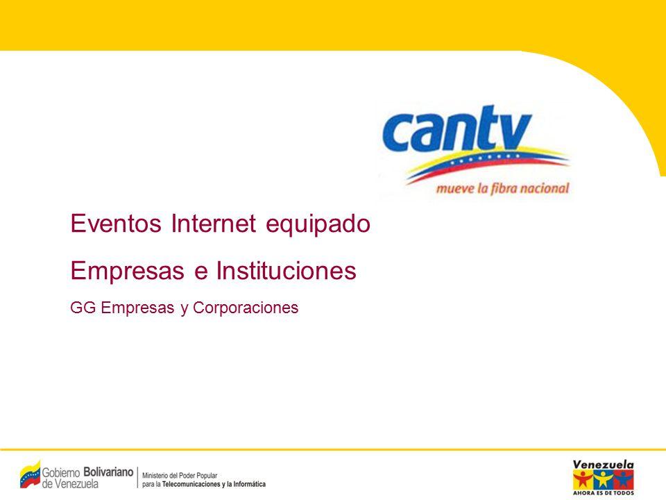 12 Compañía Anónima Nacional Teléfonos de Venezuela (NYSE:VNT) 12 Proceso de venta y entrega – PC + Internet (1/2) Ventas Análisis de Riesgo Cliente Solicita información del producto Proporciona toda la información del producto Evento Disponibilidad.